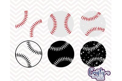Baseballs, Grunge, Silhouette, Stitches Svg