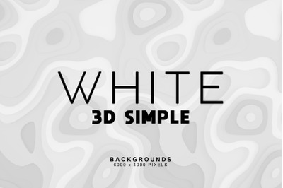 Simple 3D White Bakgrounds 1
