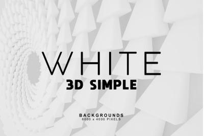 Simple 3D White Bakgrounds 2