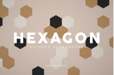Textured Hexagon Backgrounds