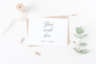 Wedding invitation mockup - Psd/Png