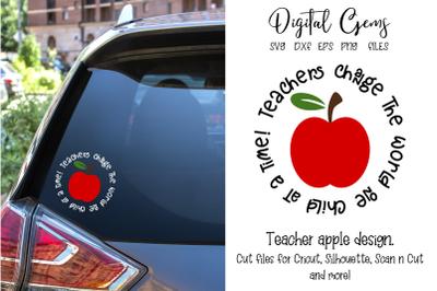 Teacher apple design
