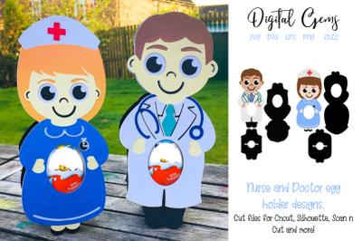 Doctor and Nurse egg holder designs