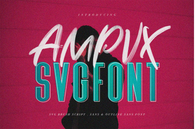 AMPVX SVG Brush Font Free Sans