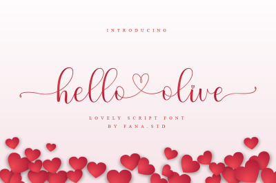 hello olive - a lovely script font