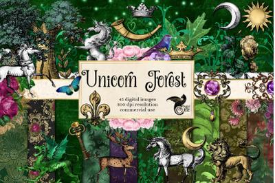 Unicorn Forest Digital Scrapbook Kit