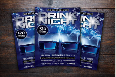 Drink Night Party Flyer
