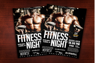 Fitness Night Sports Flyer