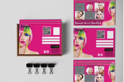 Flat Style Beauty Salons PostCard