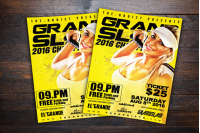Grand Slam Tennis Championships Sports Flyer