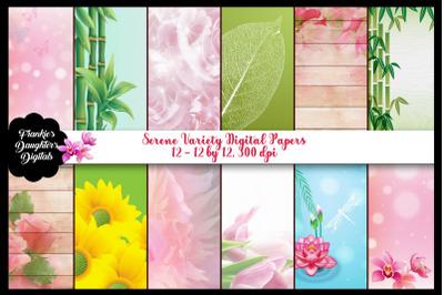 Serene Variety Digital Papers