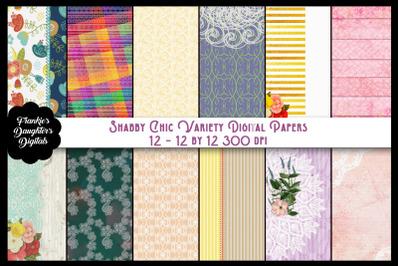 Shabby Chic Variety Digital Paper