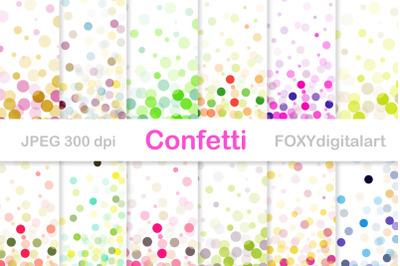 Confetti Digital Paper Pack Wedding Invitation