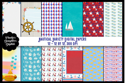 Nautical Variety Digital Paper