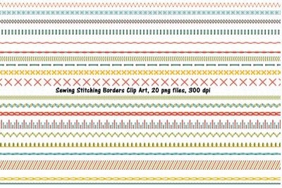 Sewing Stitch Border Clip Art PART ONE