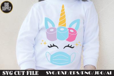 Unicorn Face Mask SVG Cut File
