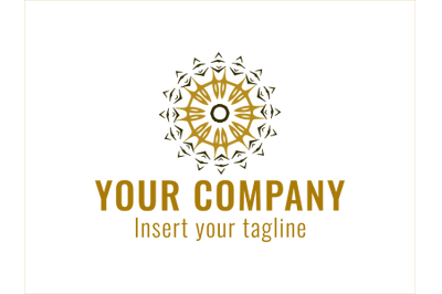 Logo Gold Patterned Gathering and Spread