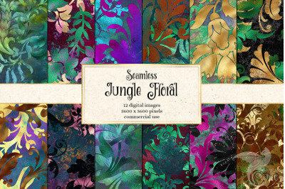 Jungle Floral Digital Paper