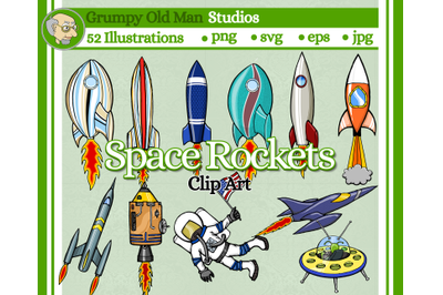 space rockets clip art