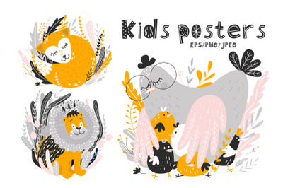 Children's posters. Animals