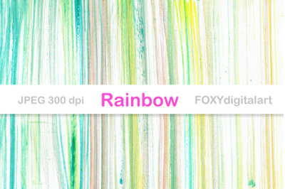 Ombre digital paper watercolor rainbow background