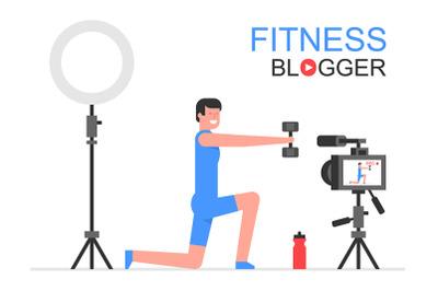 Athletic man blogger