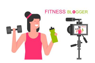 Athletic women blogger