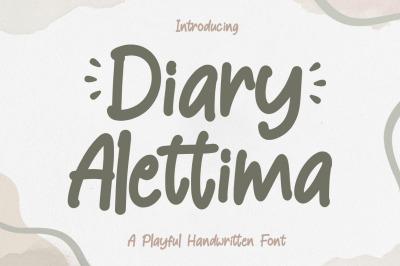 Diary Alettima - Handwriting Font