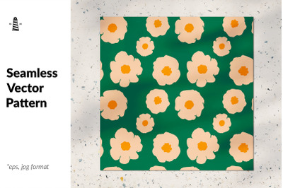 Spring flower seamless pattern