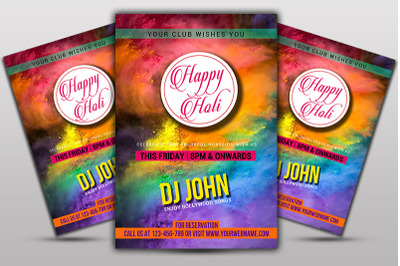 Holi Event Flyer