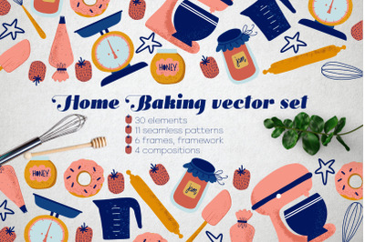 Home Baking vector set