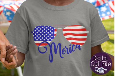 Merica Sunglasses Svg, 4th Of July Clipart Independence Day