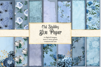 Old Shabby Blue Paper