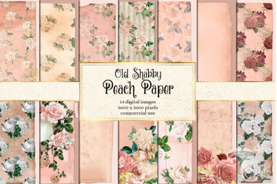 Old Shabby Peach Paper Textures