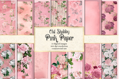 Old Shabby Pink Paper Textures