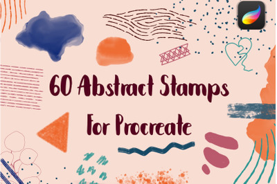 Abstract Procreate Stamp Brushes