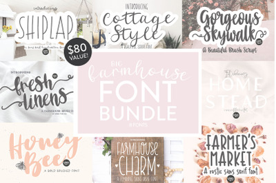BIG FARMHOUSE FONT BUNDLE