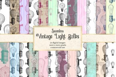 Vintage Light Bulb Digital Paper