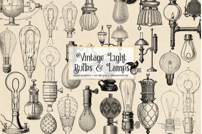 Vintage Light Bulbs and Lamps