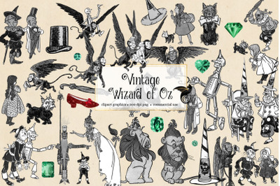 Vintage Wizard of Oz Clipart