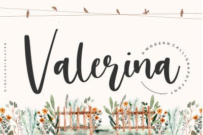 Valerina Modern Calligraphy Font