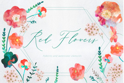 Red Flowers | Patterns and elements