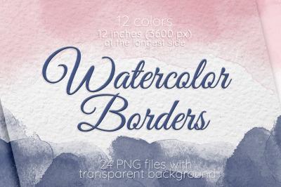 Watercolor borders Frames Wedding Invitation decor Frame clipart