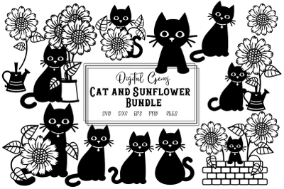 Cat and sunflower bundle