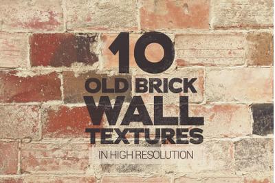 Old Brick Wall Textures Vol. 1 x10