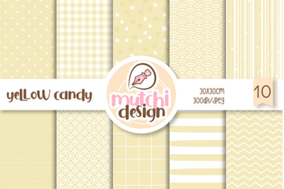 Yellow Candy Color Digital Papers