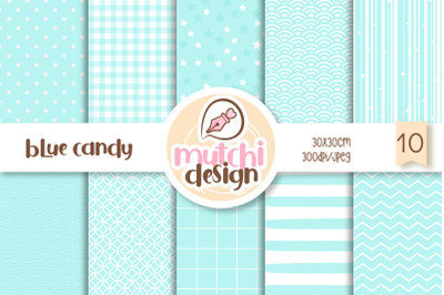 Blue Candy Color Digital Papers