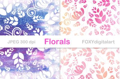 Wedding digital paper floral background