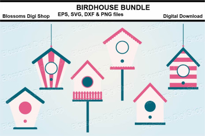 Birdhouse bundle SVG, EPS, DXF and PNG cut files