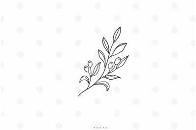 Olive branch svg cut file